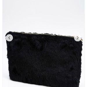 Oversized Faux Fur Clutch